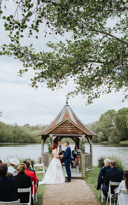Spring Wedding by the lake at the Powder Mills Hotel