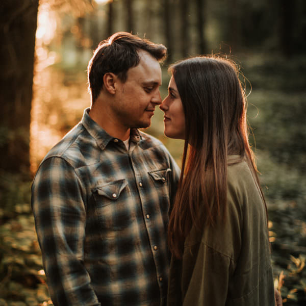 Woodland pre-wedding shoot with Beckie & Jack