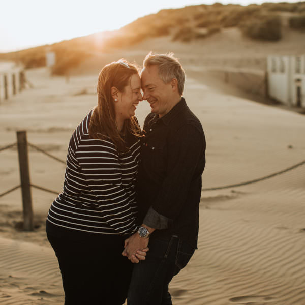 Camber Sands beach pre-wedding with Julie and Simon